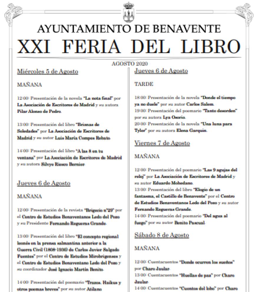 XXI Feria del Libro - 8 de agosto