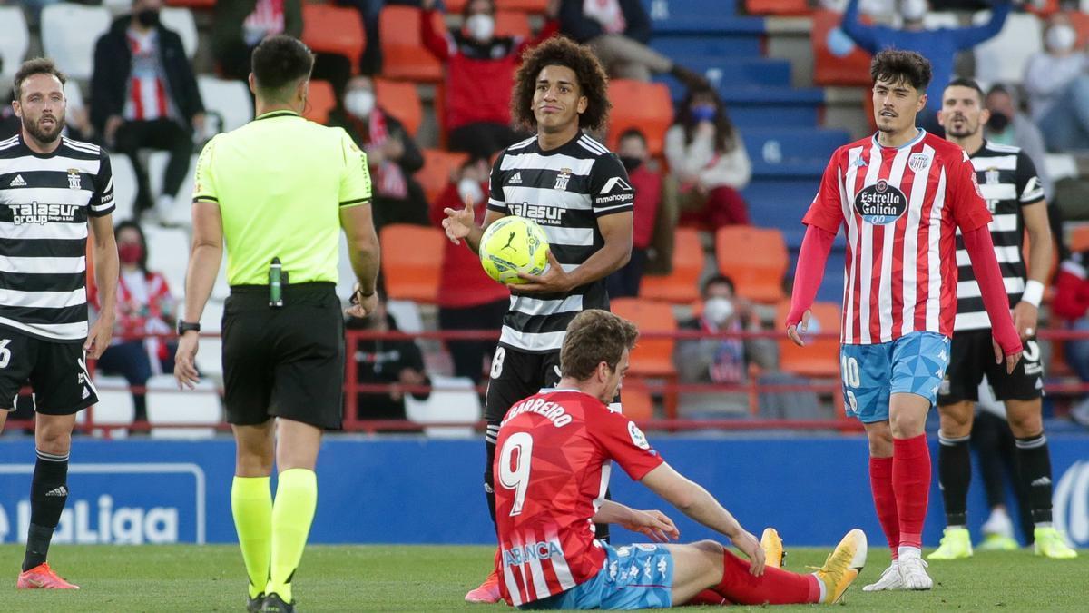 Una imagen del partido entre el Lugo y el FC Cartagena