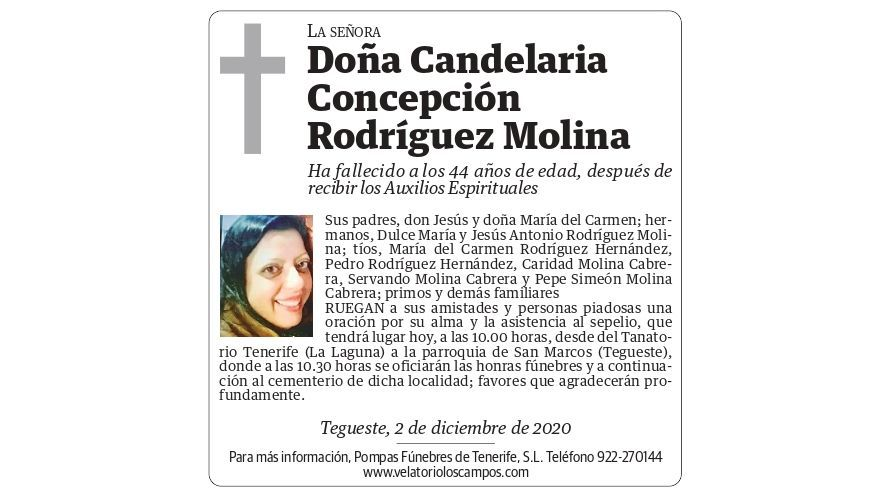 Candelaria Concepción Rodríguez Molina