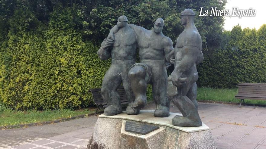 """Así es el monumento al minero de Siero, homenaje a los """"orgullosos herederos de una historia centenaria"""" de tradición carbonera en el concejo"""
