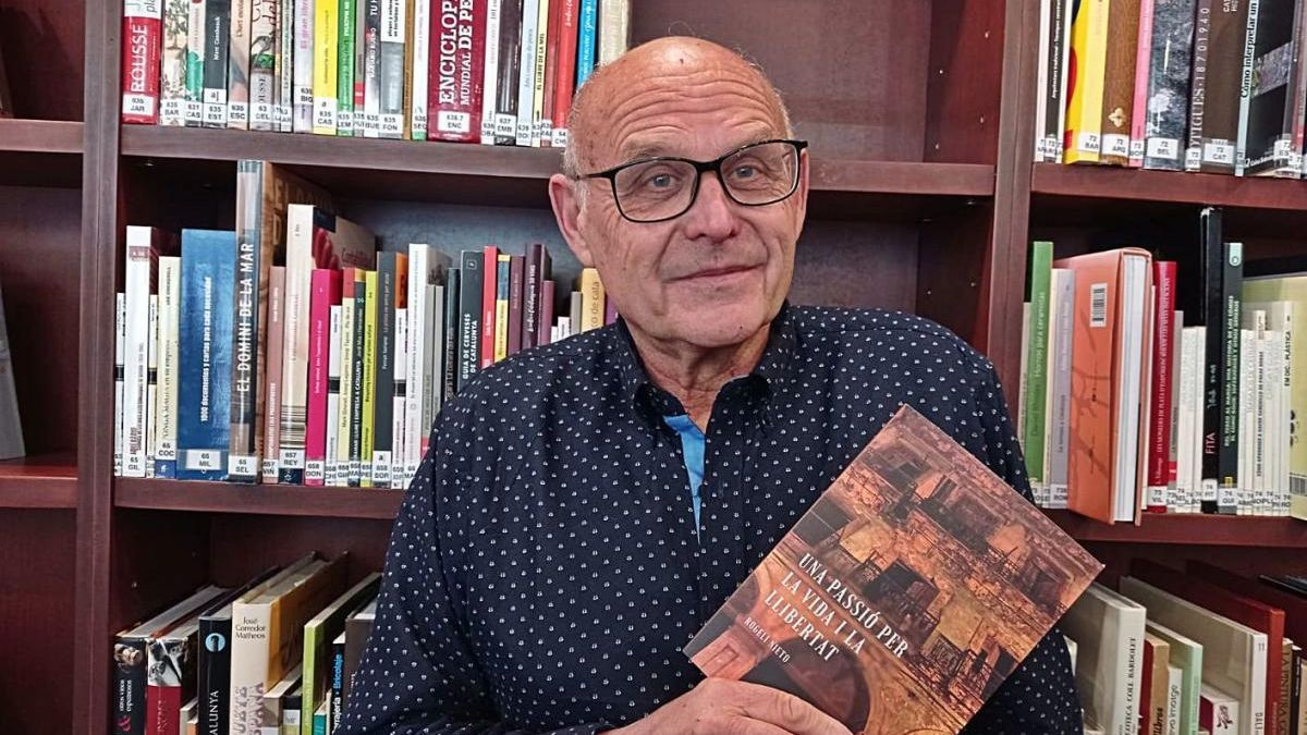 Rogeli Nieto, autor de la novel·la «Una passió per la vida i la llibertat».
