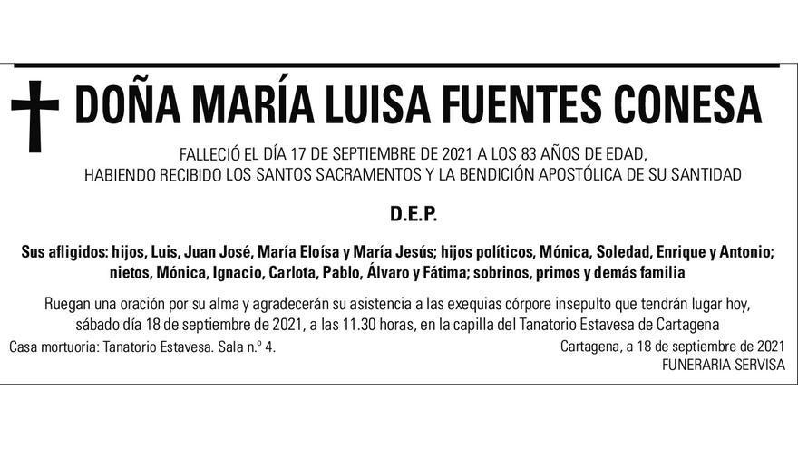 Dª María Luisa Fuentes Conesa