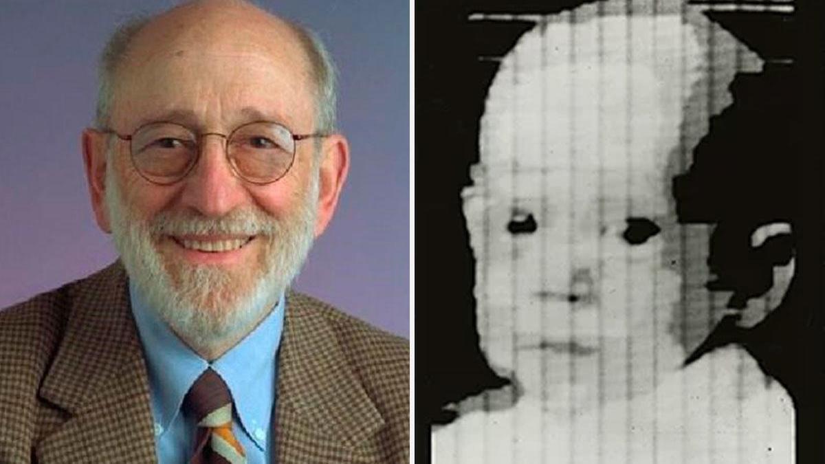 Russell Kirsch y la imagen que creó en 1957.