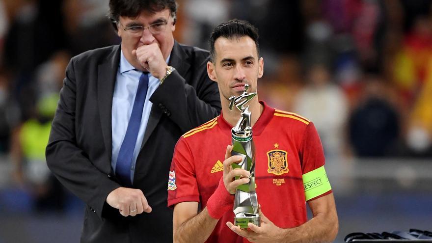 Busquets, elegido mejor jugador de la Liga de Naciones