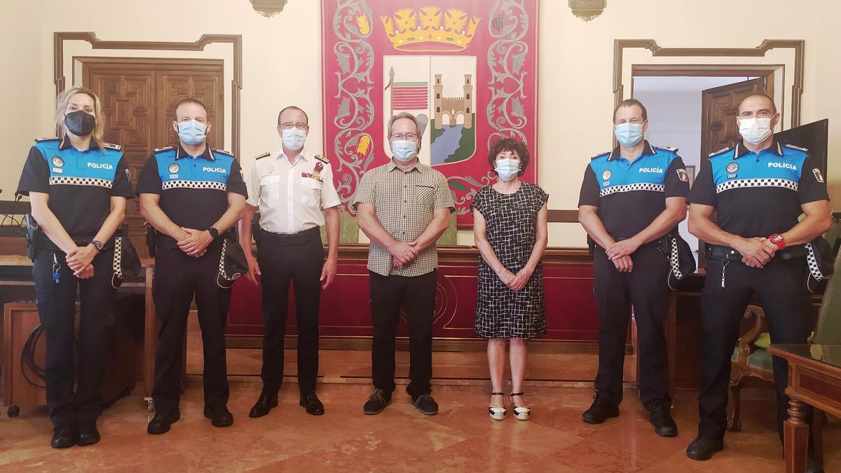 Acto de toma de posesión de los nuevos cargos de la Policía Municipal de Zamora.