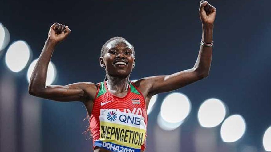 Chepngetich gana el maratón más duro de la historia