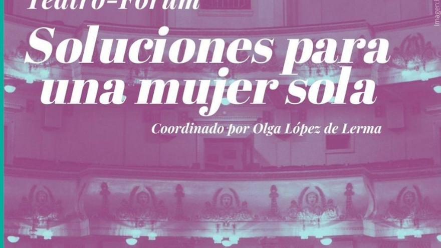 Taller soluciones para una mujer sola, teatro Fórum