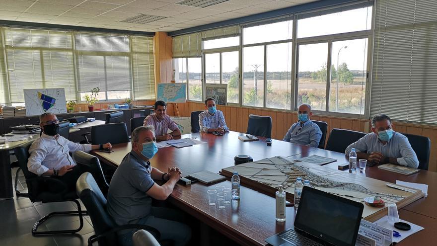 Propietarios del proyecto industrial 'Puerta de Andalucía' visitan Benavente