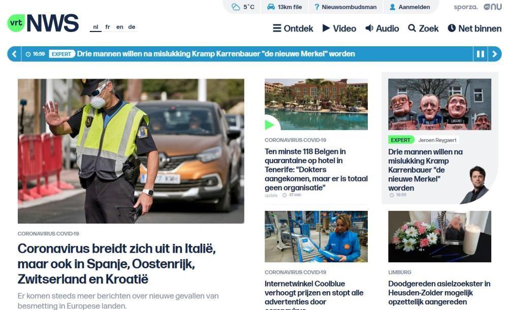 VRT (televisión y radio pública belga)