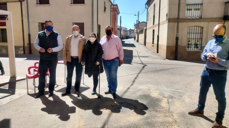 La Diputación financia obras de pavimentación en El Cubo del Vino