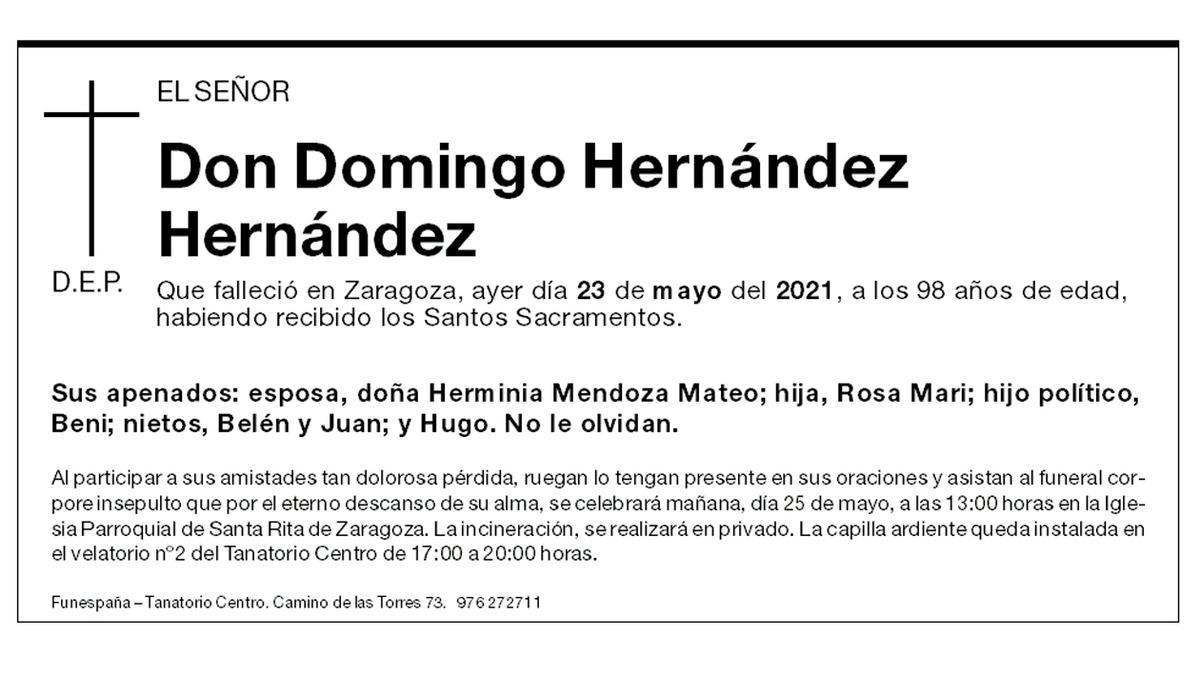 Domingo Hernández Hernández