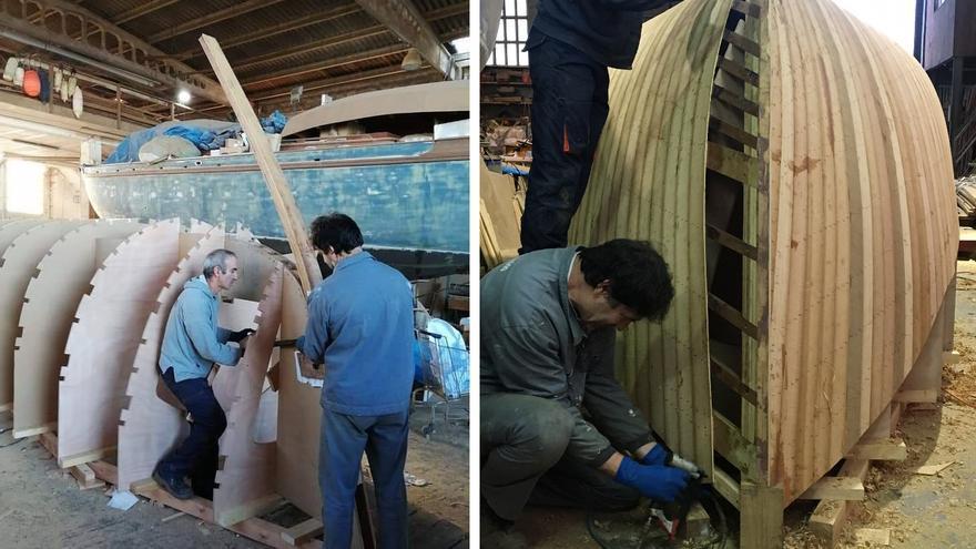 Una carpintería de ribera meca recupera un bote salvavidas de 1850 para un municipio catalán