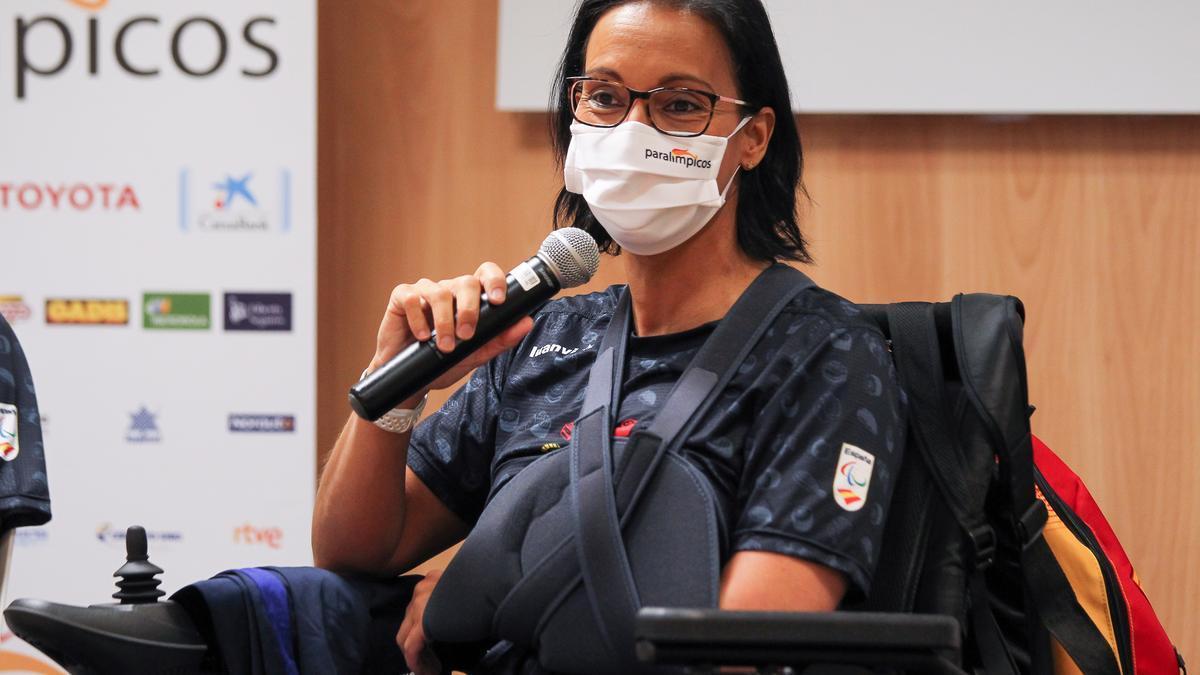 Teresa Perales, antes de partir a Tokio para los Paralímpicos.