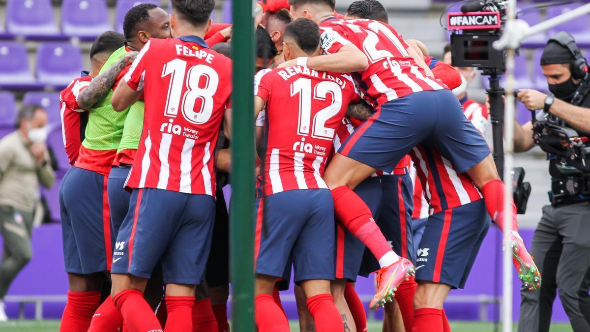 El Atlético celebra el título.