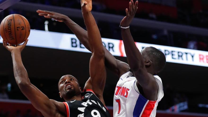 Ibaka y Juancho brillan en los triunfos de Raptors y Nuggets