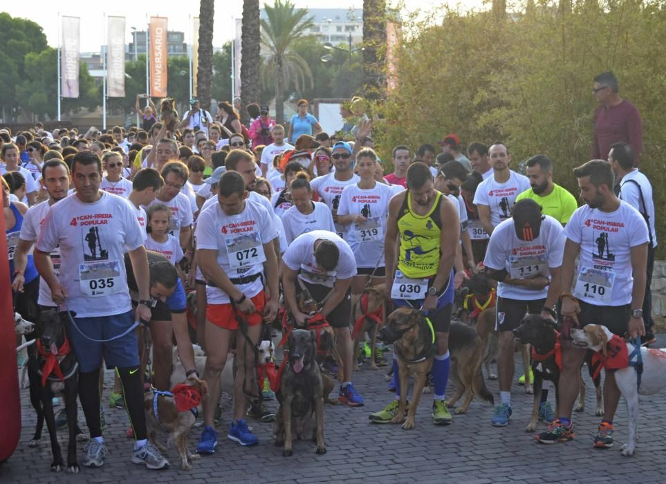 Los participantes en la cuarta Can-rrera.