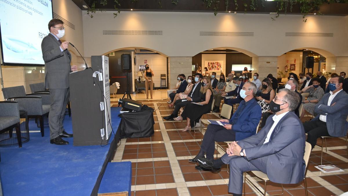 El president de la Generalitat valenciana, Ximo Puig, participó recientemente en el IIIForo del Agua de Castellón, que organizó el periódico 'Mediterráneo'.