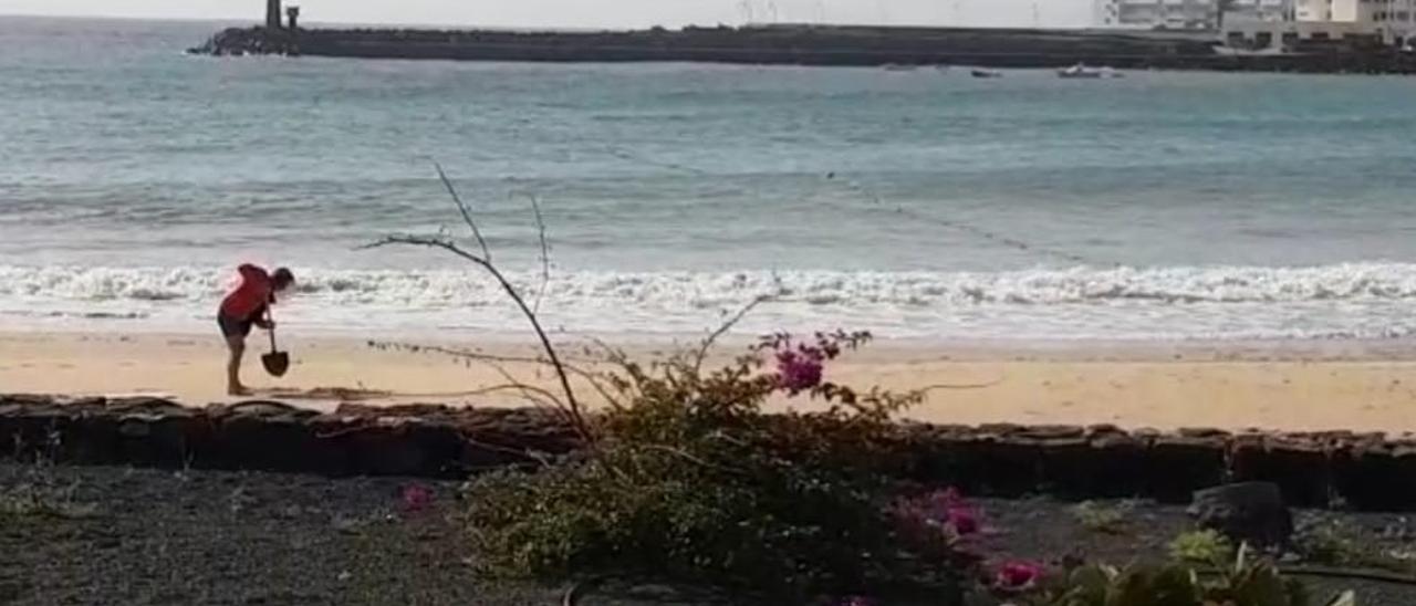Playa de Las Cucharas, en Costa Teguise.