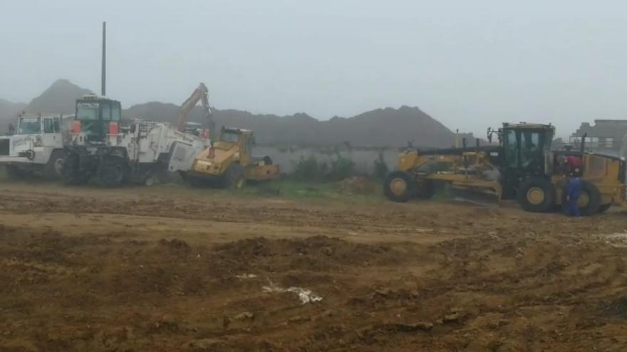 Comienzan las obras para instalar la gran nave de Amazon en Siero