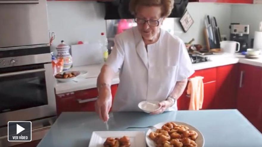 'Bunyols de les verges' hechos en casa con la receta de Maria Gibert