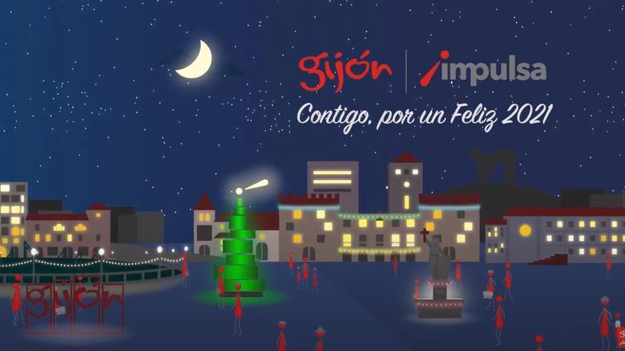 Felices Fiestas de parte de Gijón Impulsa