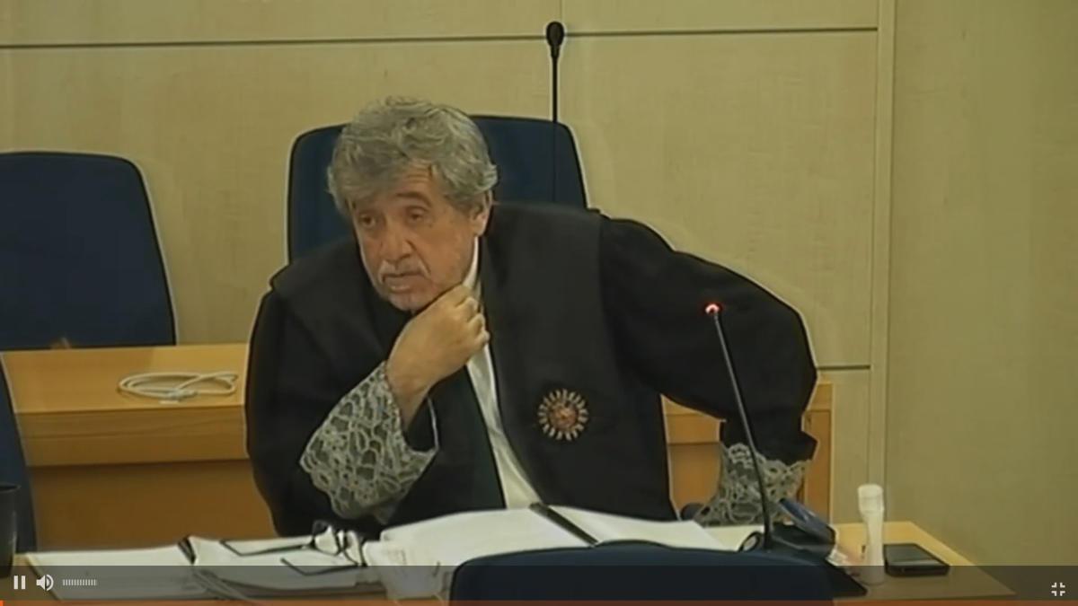 El fiscal Pedro Rubira durant la seva intervenció al judici de l'Audiència Nacional
