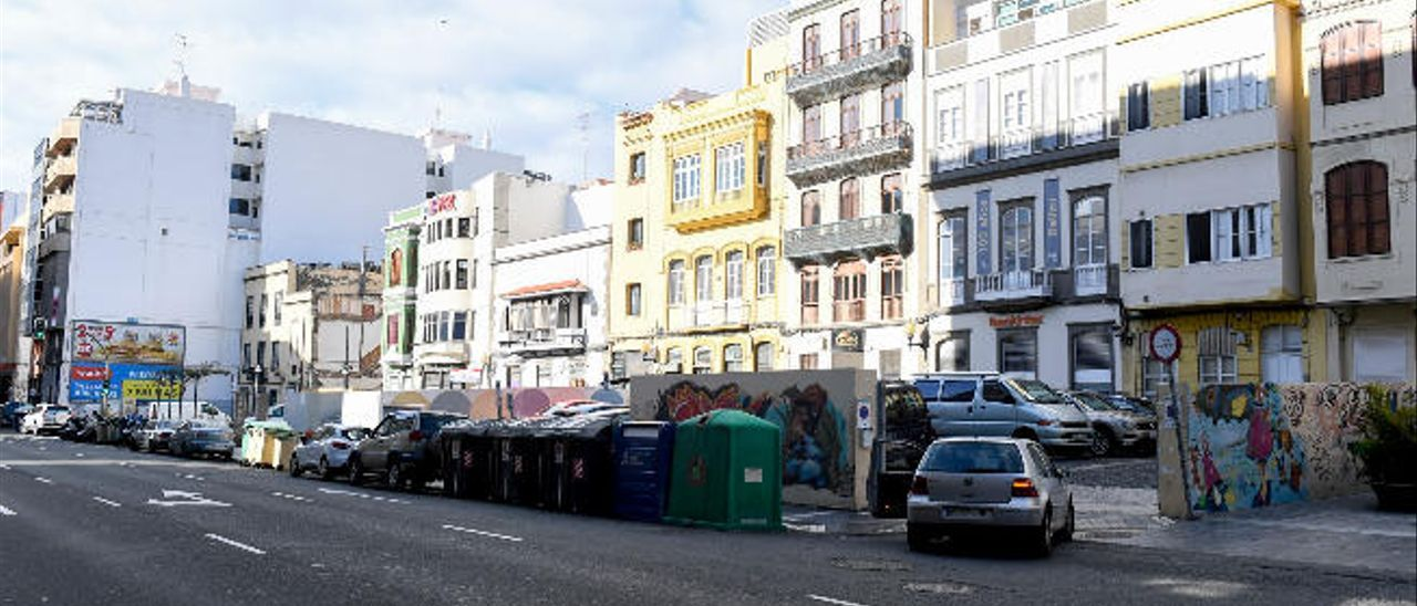 Vista de las parcelas de Francisco Gourié, sobre las que quiere intervenir el Ayuntamiento.