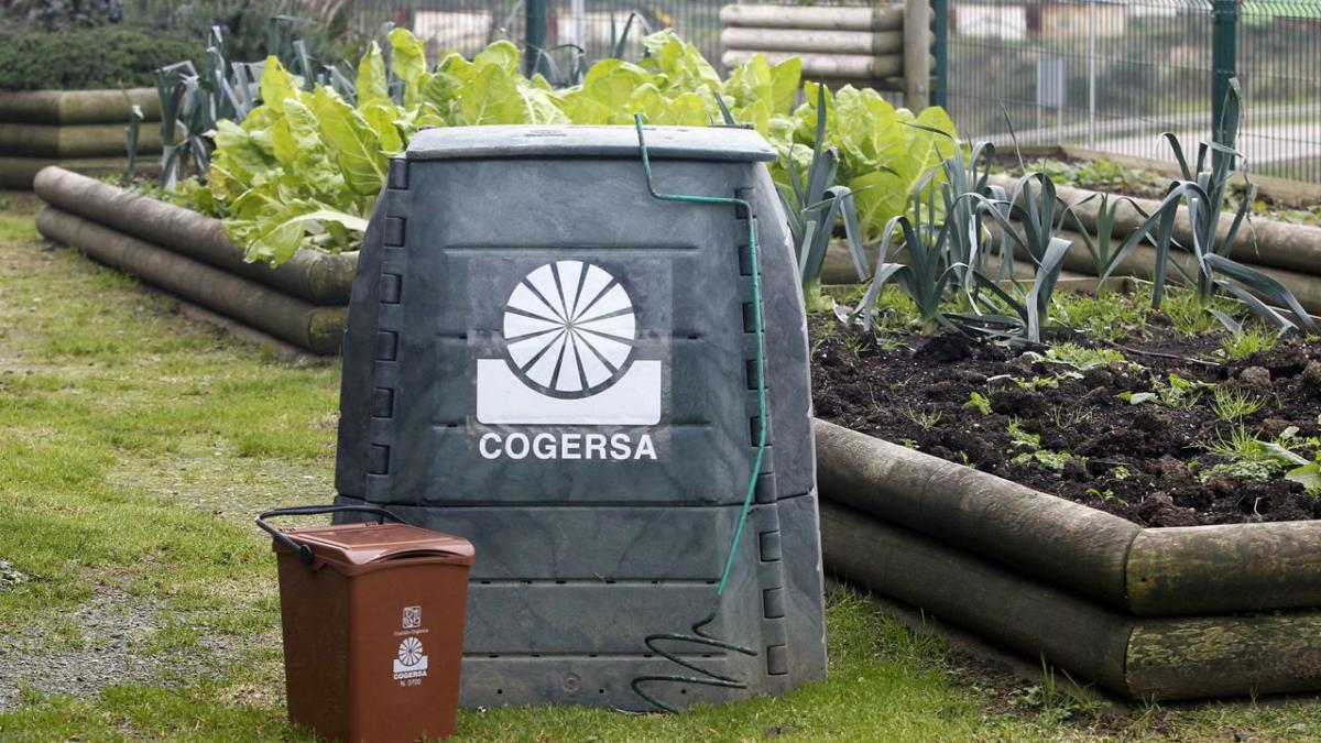 Una compostadora de Cogersa