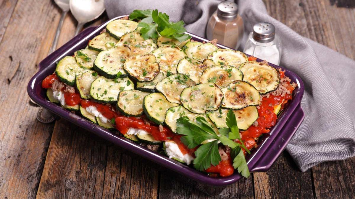 Lasaña de verduras sin láminas.