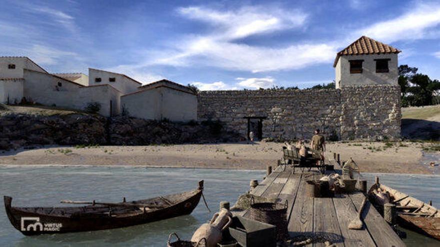 Els arqueòlegs recreen en tres dimensions l'antic port grec d'Empúries del segle II aC
