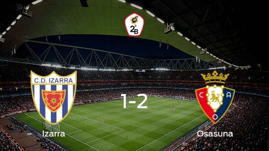 Osasuna Promesas se lleva tres puntos a casa tras derrotar 1-2 al Izarra