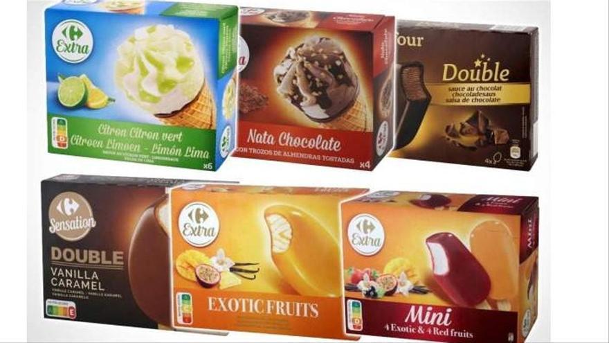 Retirats 29 gelats de Carrefour per contenir òxid d'etilè