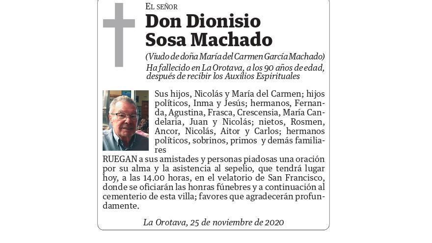 Dionisio Sosa Machado