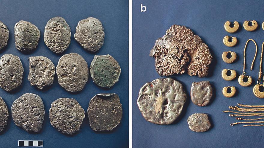 Los castreños empezaron a acumular oro y plata en lingotes tras la conquista romana