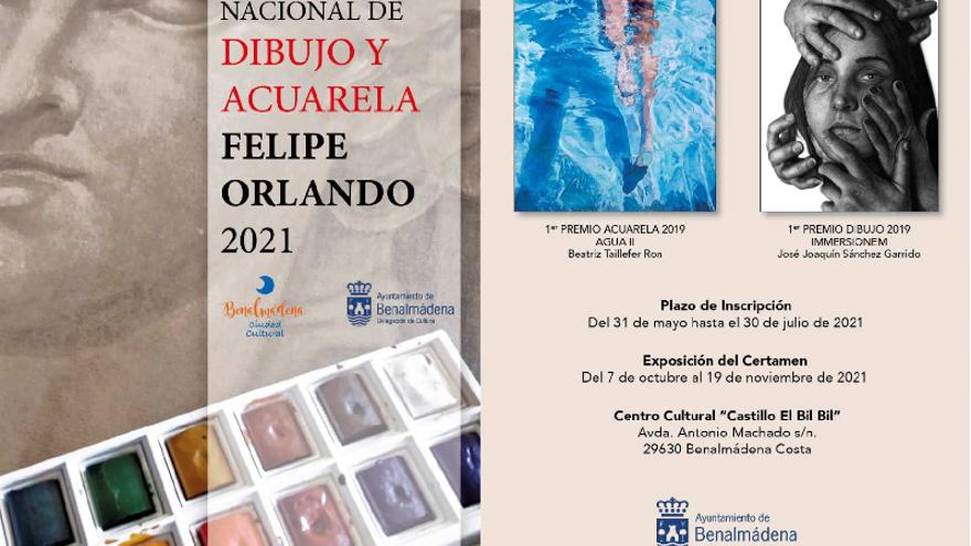 Bases certamen nacional de dibujo y acuarela Felipe Orlando