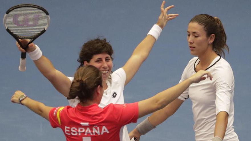 Carla Suárez brilla para devolver a España al Grupo Mundial de la Copa Federación