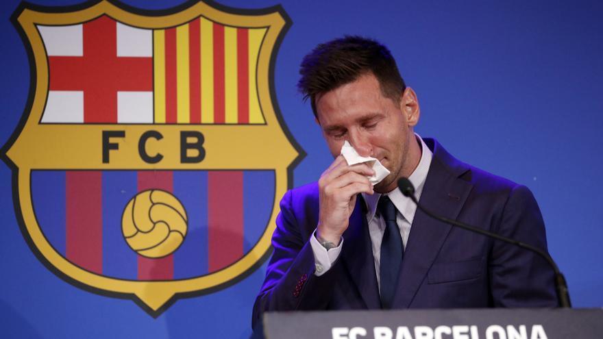 """Messi, entre lágrimas: """"No sé el club, pero yo hice todo lo posible por quedarme en el Barça"""""""