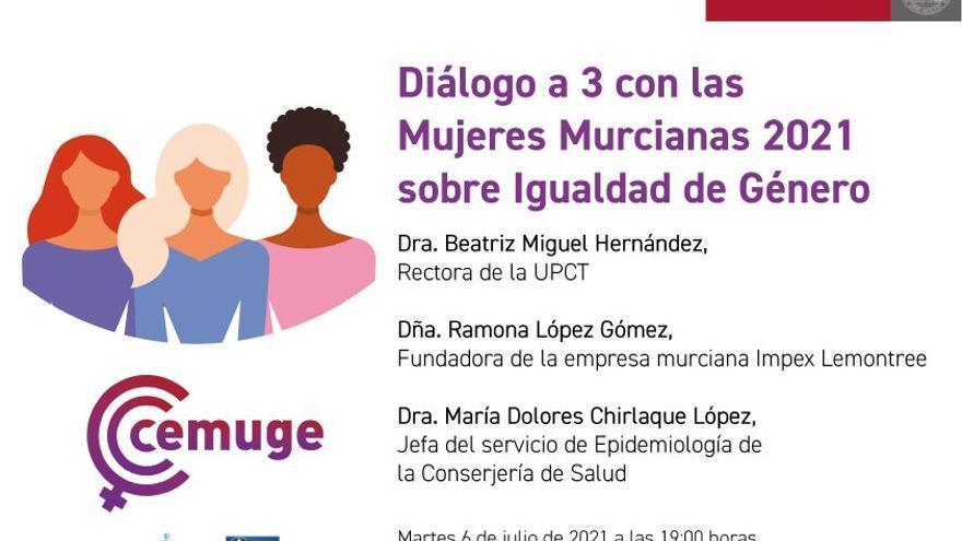 Las tres Mujeres Murcianas del año 2021 participan en un diálogo en la UMU sobre Igualdad de Género