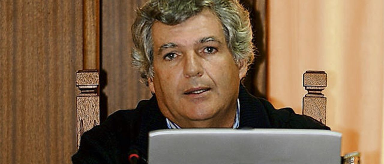 Leopoldo Díaz durante su etapa como director del Plan Insular del Territorio.