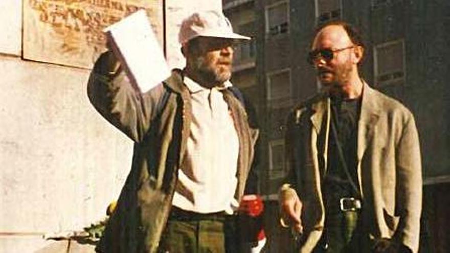 Una imagen de 1999, con Pepe Belso.
