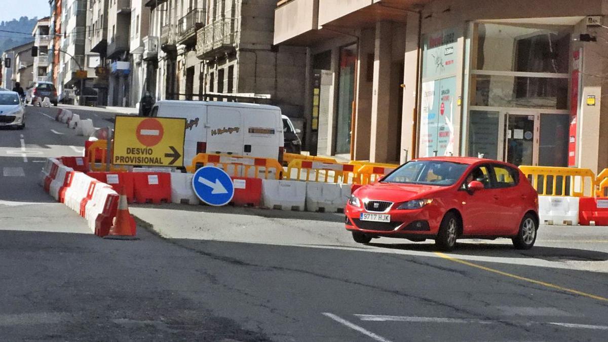 El inicio de la calle Marcelo Macías, en la ciudad de Ourense.     // FERNANDO CASANOVA