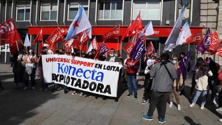 Los agentes de la Superlínea Santander, en huelga para exigir condiciones dignas