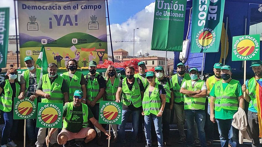 UP del Bages protesta a Madrid per exigir una PAC professional i preus justos