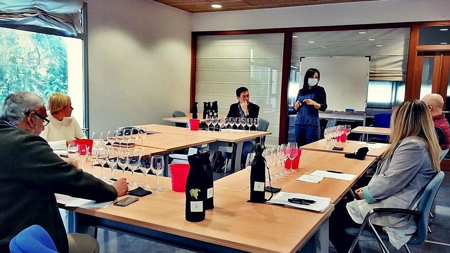 El vino de Cangas prueba su crianza con roble autóctono