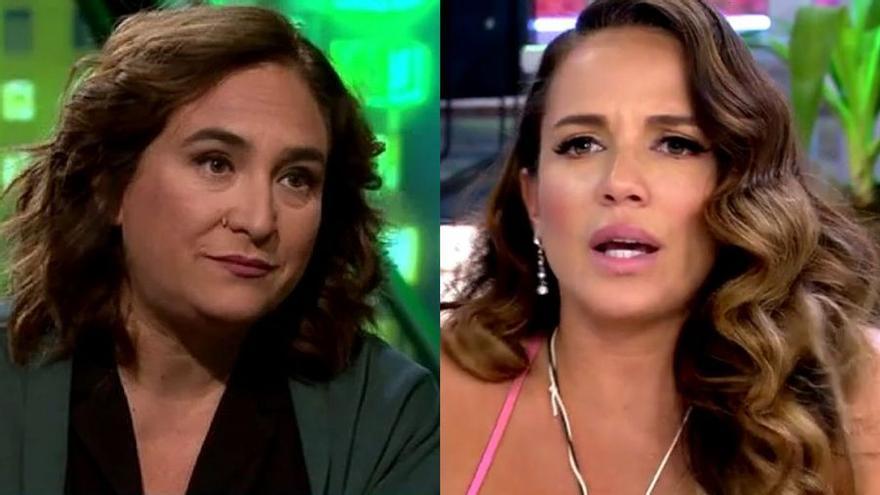 Ada Colau en 'laSexta Noche' frente al 'Deluxe' de Telecinco