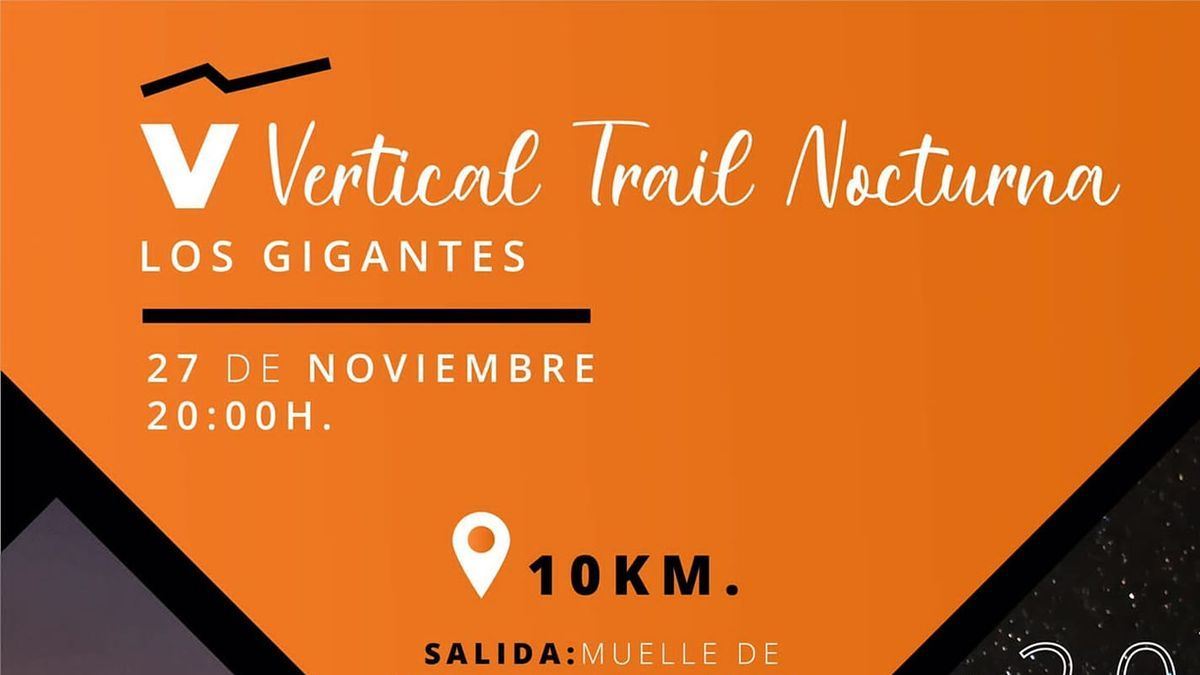 El Ayuntamiento recupera la Vertical Trail Los Gigantes-Santiago del Teide en horario nocturno