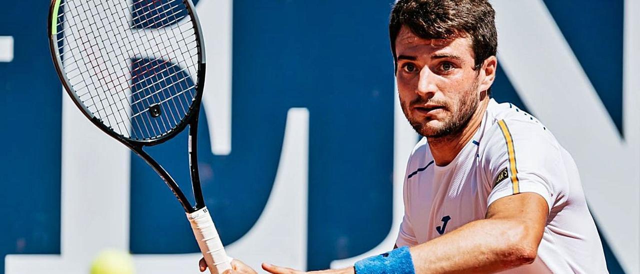 Pedro Martínez Portero, durante su partido de ayer frente a Daniel Altmaier. | ATP TOUR