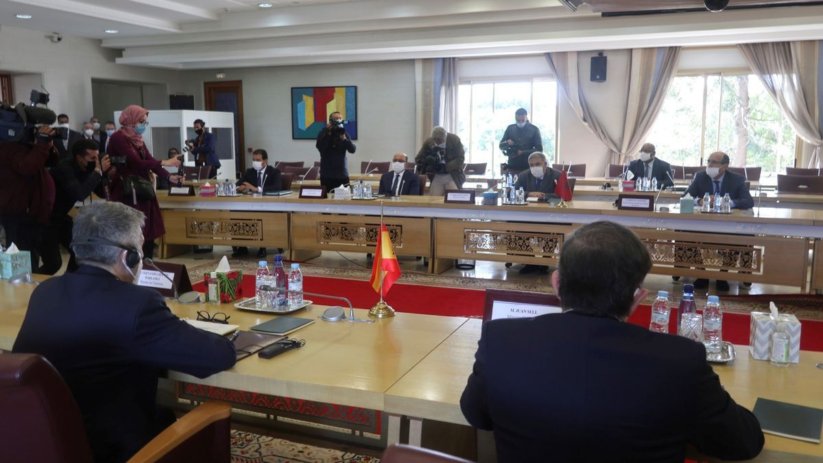 Grande-Marlaska se reúne en Rabat con Abdelouafi Laftit