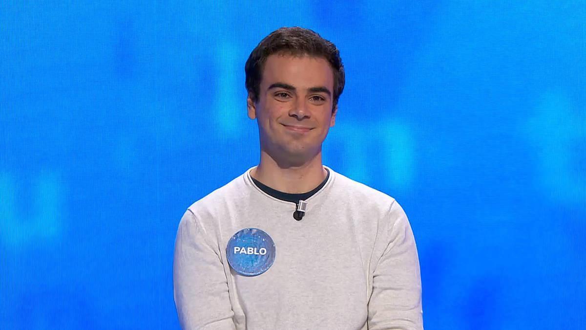 El concursante de 'Pasapalabra' Pablo Díaz.