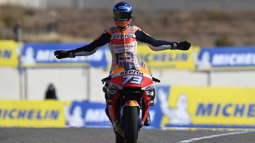 Álex Márquez empieza mandando en el GP de Teruel